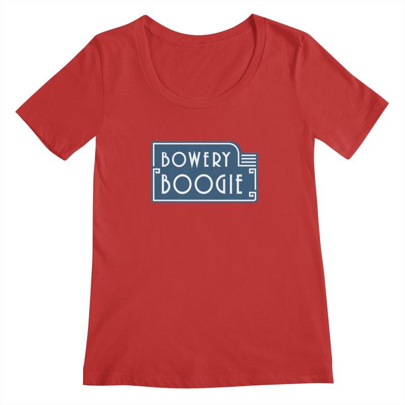 "Boogie ""Flophouse"" Sign Women's Regular Scoop Neck by Bowery Boogie Merch Shop"
