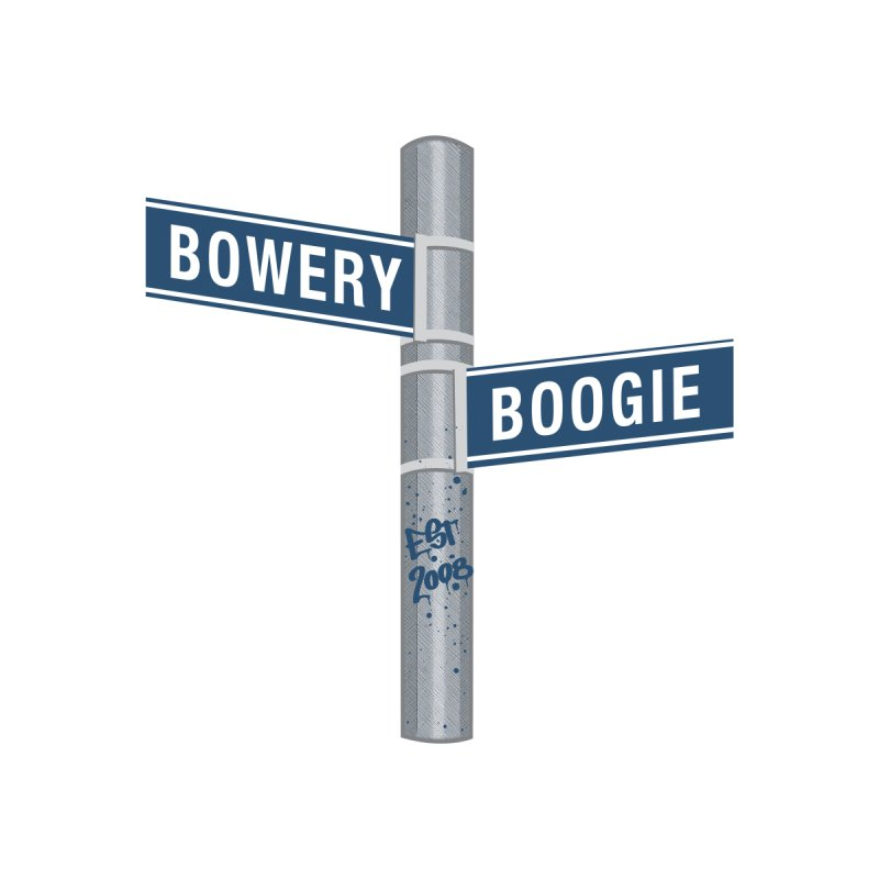 Boogie Street Sign Accessories Zip Pouch by Bowery Boogie Merch Shop
