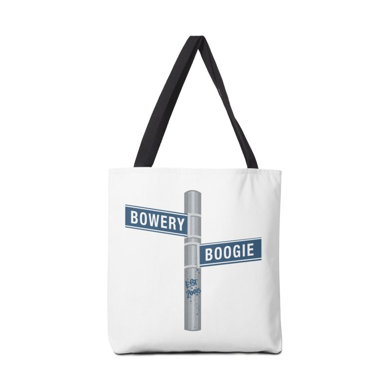 Boogie Street Sign in Tote Bag by Bowery Boogie Merch Shop