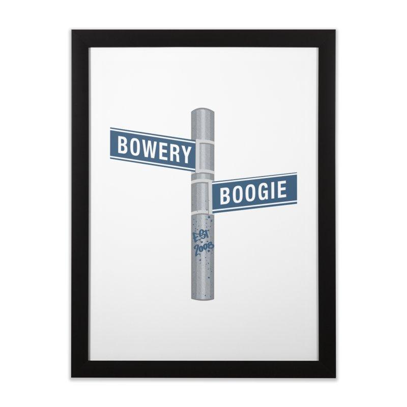 Boogie Street Sign Home Framed Fine Art Print by Bowery Boogie Merch Shop