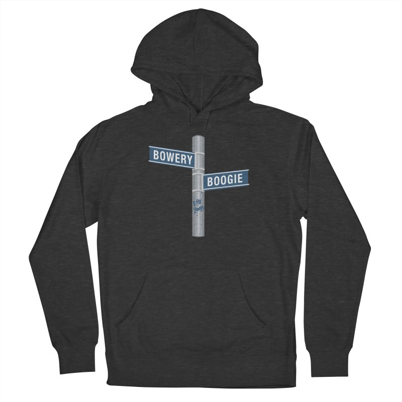 Boogie Street Sign in Men's Pullover Hoody Smoke by Bowery Boogie Merch Shop