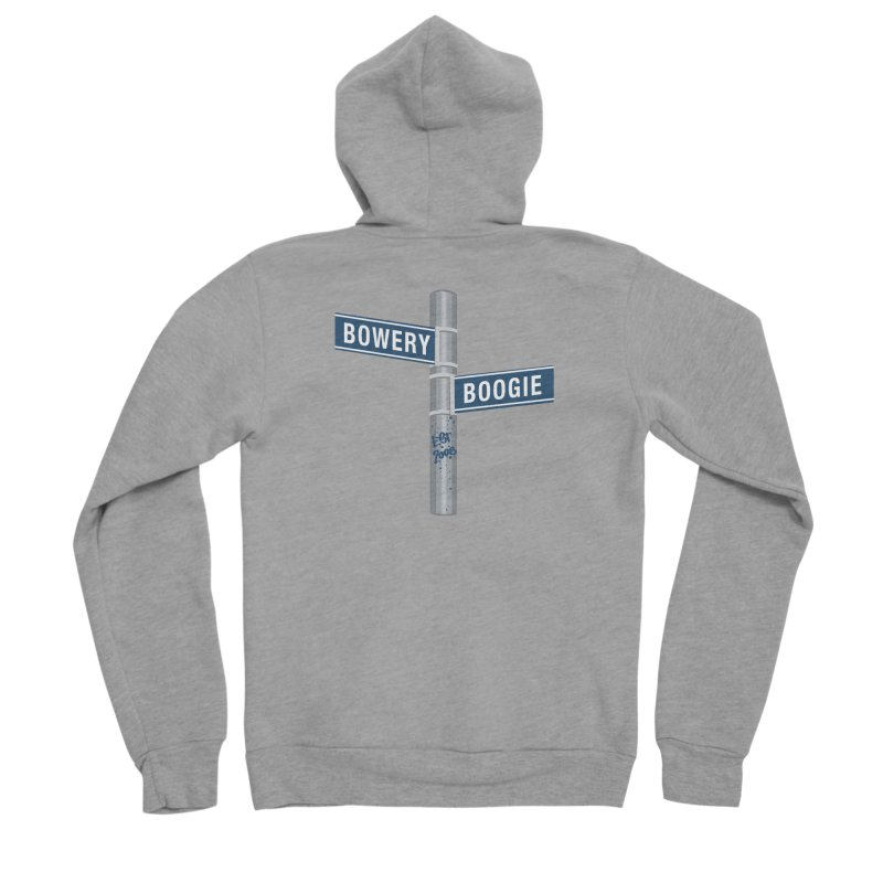 Boogie Street Sign Men's Sponge Fleece Zip-Up Hoody by Bowery Boogie Merch Shop