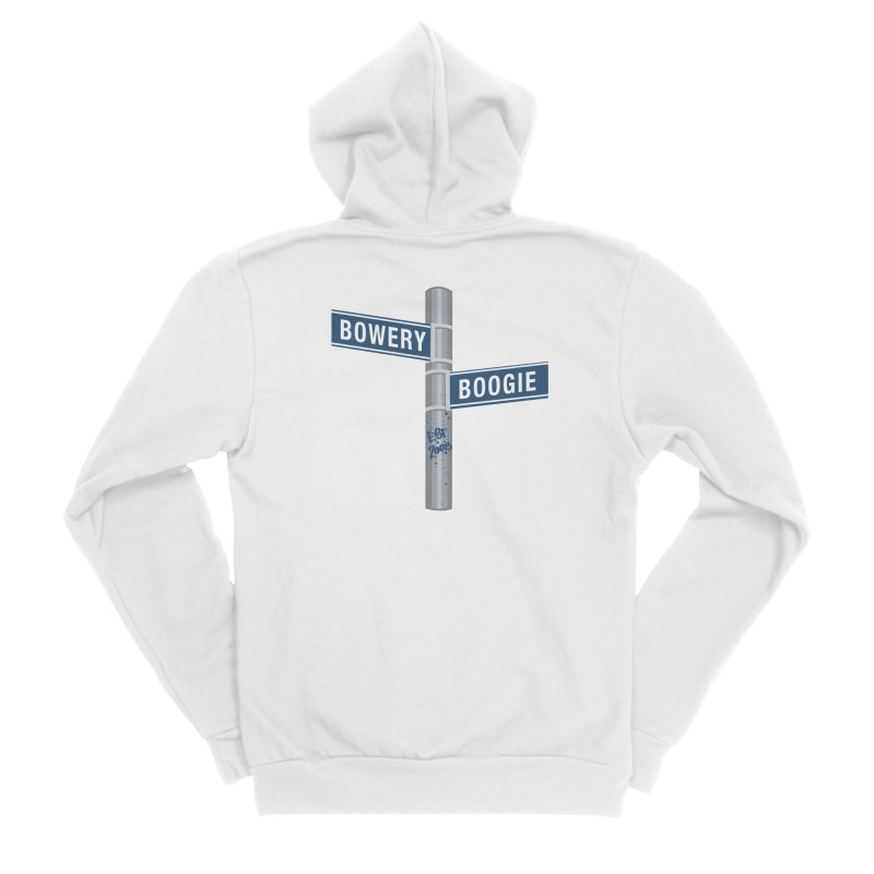Boogie Street Sign Women's Sponge Fleece Zip-Up Hoody by Bowery Boogie Merch Shop