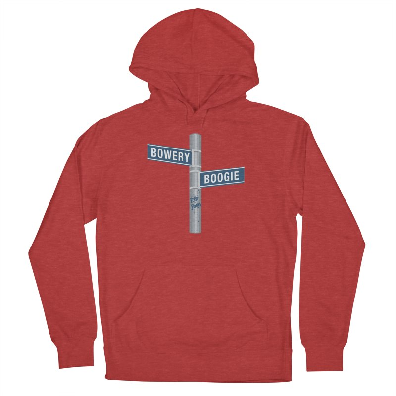 Boogie Street Sign Women's French Terry Pullover Hoody by Bowery Boogie Merch Shop