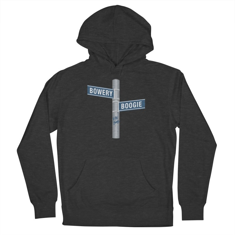 Boogie Street Sign Men's French Terry Pullover Hoody by Bowery Boogie Merch Shop