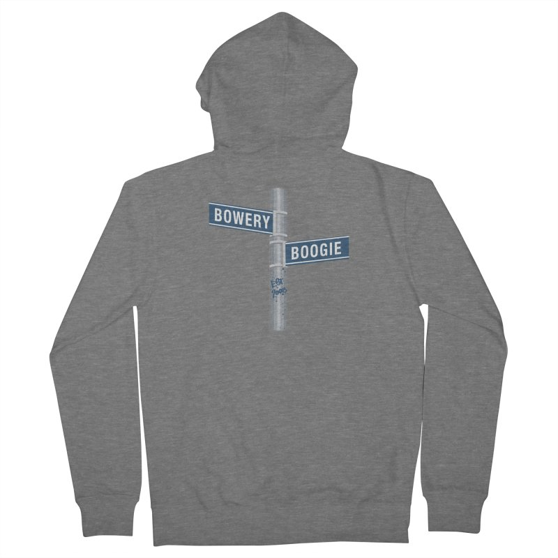 Boogie Street Sign Women's French Terry Zip-Up Hoody by Bowery Boogie Merch Shop