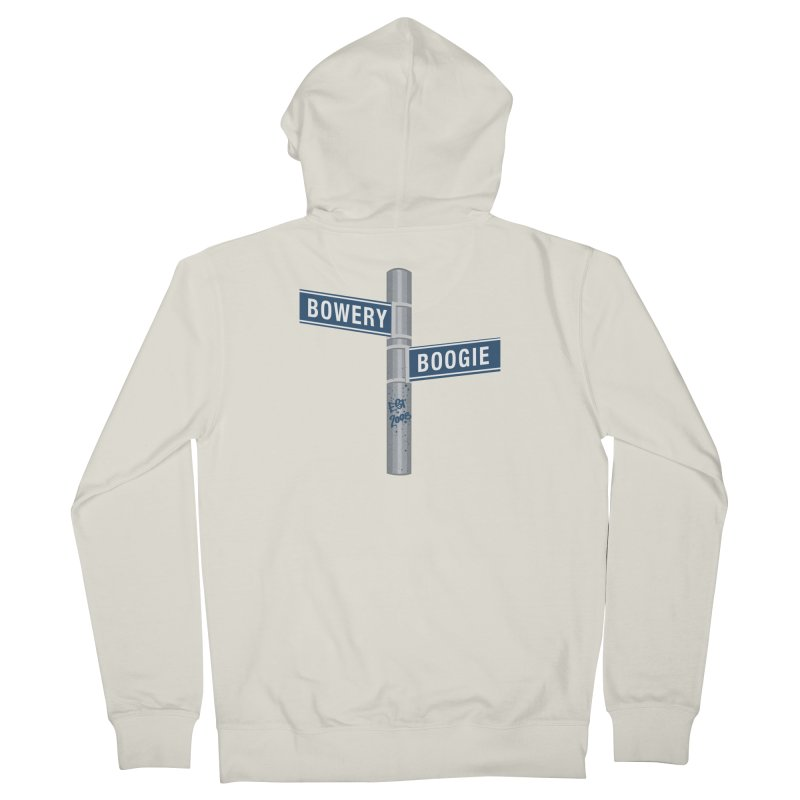 Boogie Street Sign Men's Zip-Up Hoody by Bowery Boogie Merch Shop