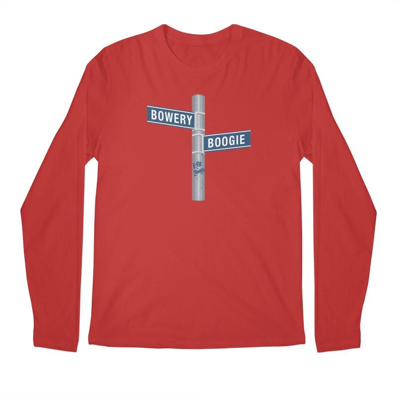 Boogie Street Sign Men's Regular Longsleeve T-Shirt by Bowery Boogie Merch Shop