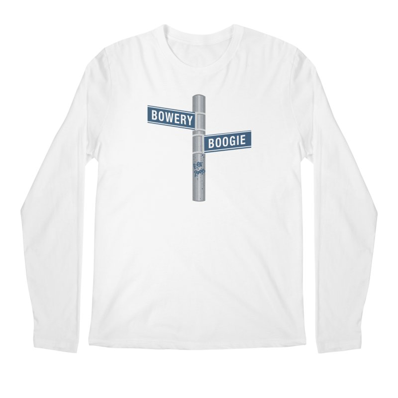 Boogie Street Sign Men's Regular Longsleeve T-Shirt by Bowery Boogie Merch Shop