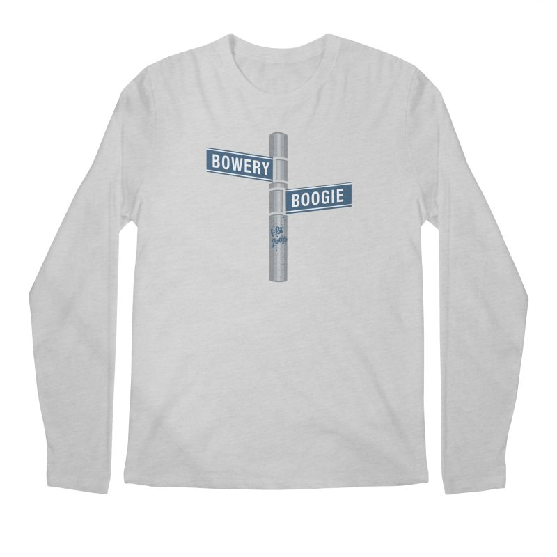 Boogie Street Sign Men's Longsleeve T-Shirt by Bowery Boogie Merch Shop