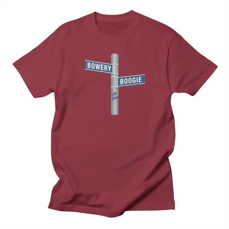 Boogie Street Sign Women's Regular Unisex T-Shirt by Bowery Boogie Merch Shop