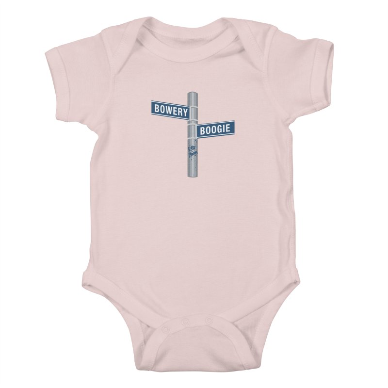 Boogie Street Sign Kids Baby Bodysuit by Bowery Boogie Merch Shop