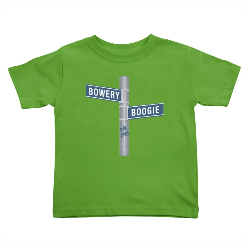 Boogie Street Sign Kids Toddler T-Shirt by Bowery Boogie Merch Shop