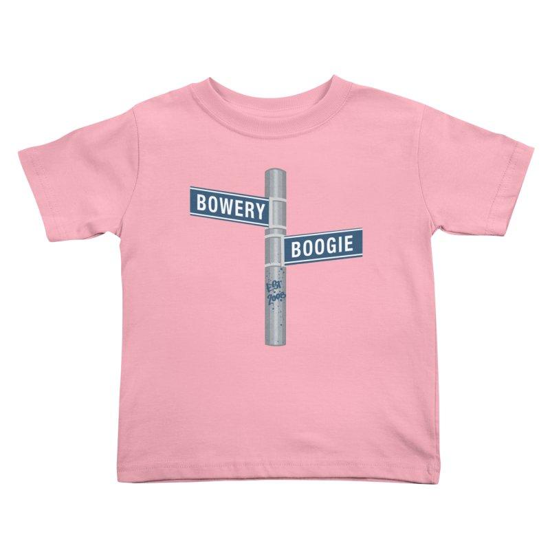 Boogie Street Sign Kids Toddler T-Shirt by Bowery Boogie Merch Shop