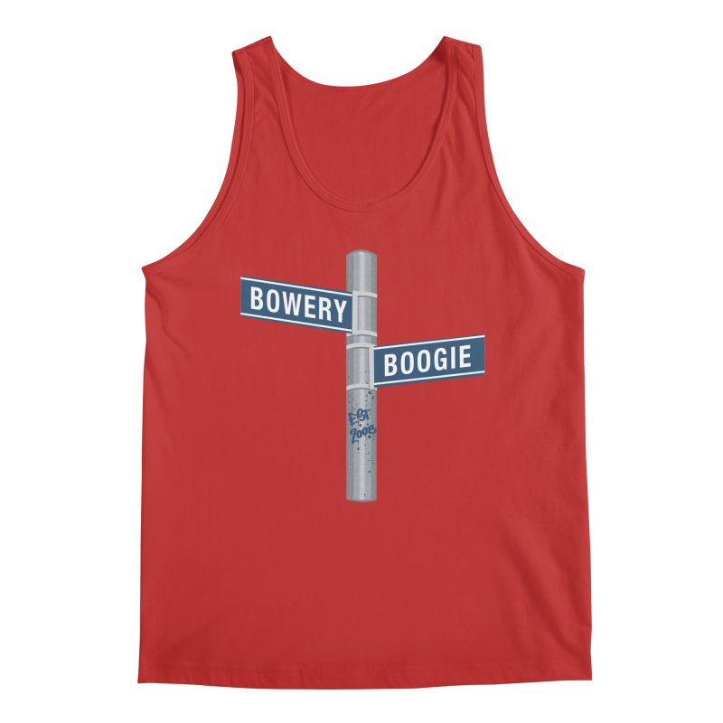 Boogie Street Sign Men's Tank by Bowery Boogie Merch Shop