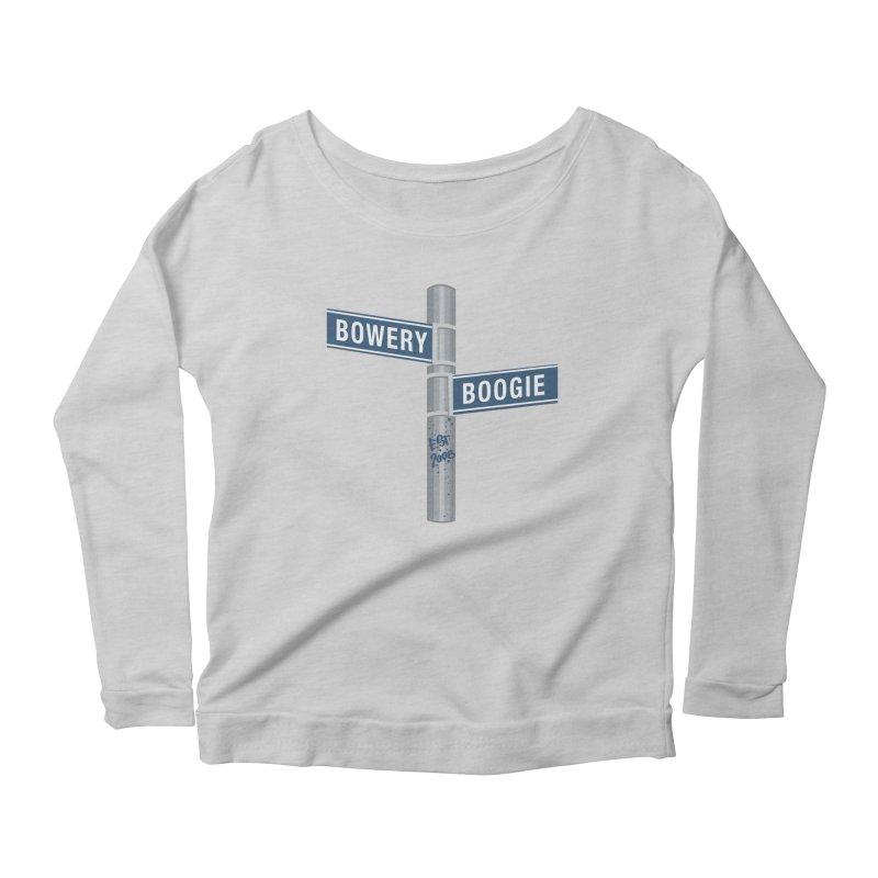 Boogie Street Sign Women's Longsleeve T-Shirt by Bowery Boogie Merch Shop