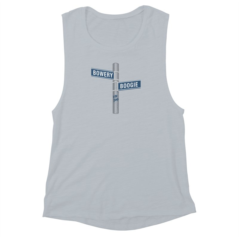 Boogie Street Sign Women's Muscle Tank by Bowery Boogie Merch Shop