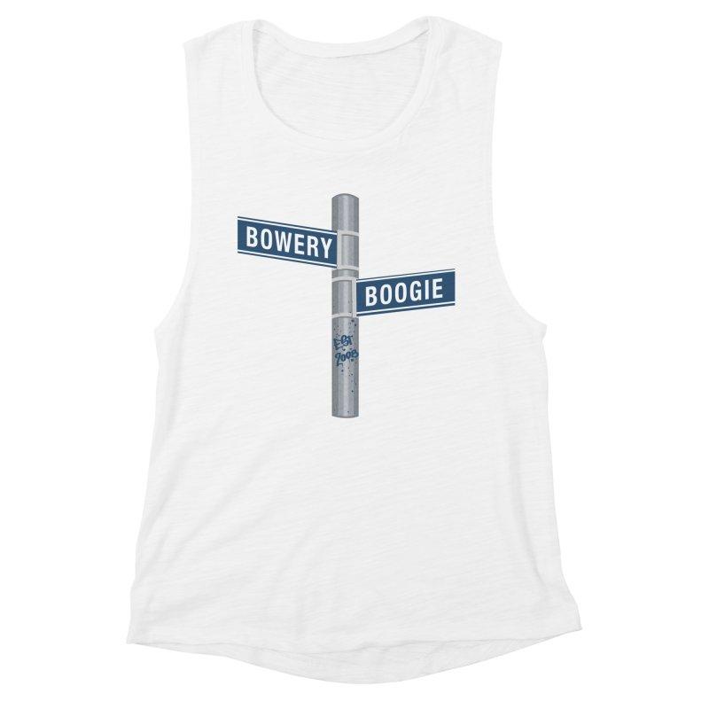 Boogie Street Sign Women's Muscle Tank by Bowery Boogie Merch Shop