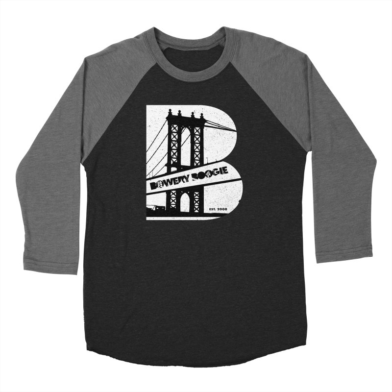 Boogie Bridge Men's Baseball Triblend Longsleeve T-Shirt by Bowery Boogie Merch Shop