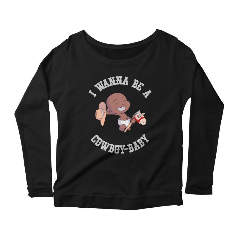 Cowboy-Baby Women's Scoop Neck Longsleeve T-Shirt by boxset's Artist Shop