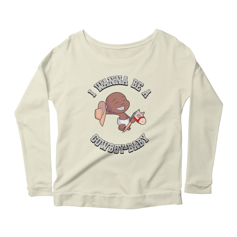 Cowboy-Baby Women's Scoop Neck Longsleeve T-Shirt by boxset's Artist Shop