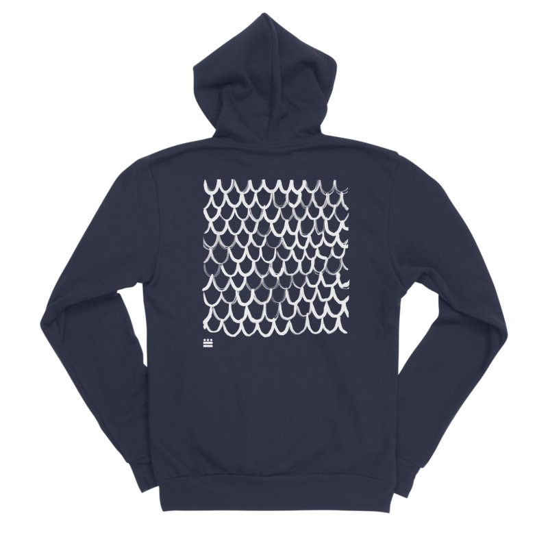 Dragon Glyph Men's Sponge Fleece Zip-Up Hoody by Boy Vs Dragon