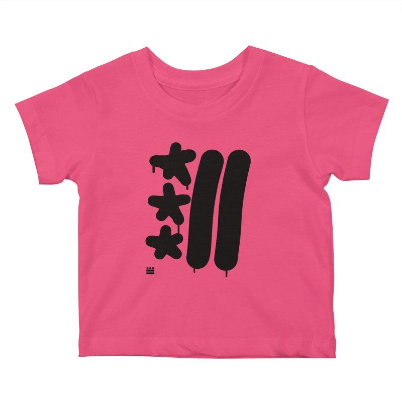 Glyph Drip Kids Baby T-Shirt by Boy Vs Dragon