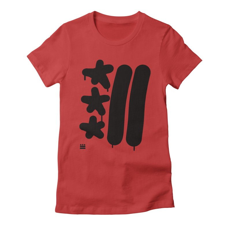 Glyph Drip Women's Fitted T-Shirt by Boy Vs Dragon
