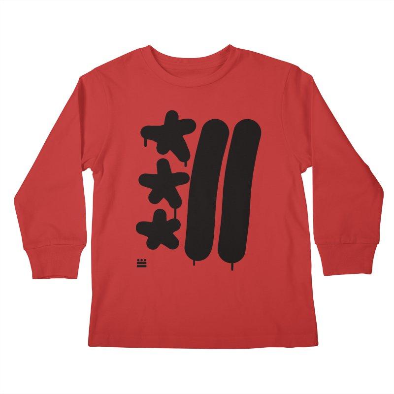 Glyph Drip Kids Longsleeve T-Shirt by Boy Vs Dragon