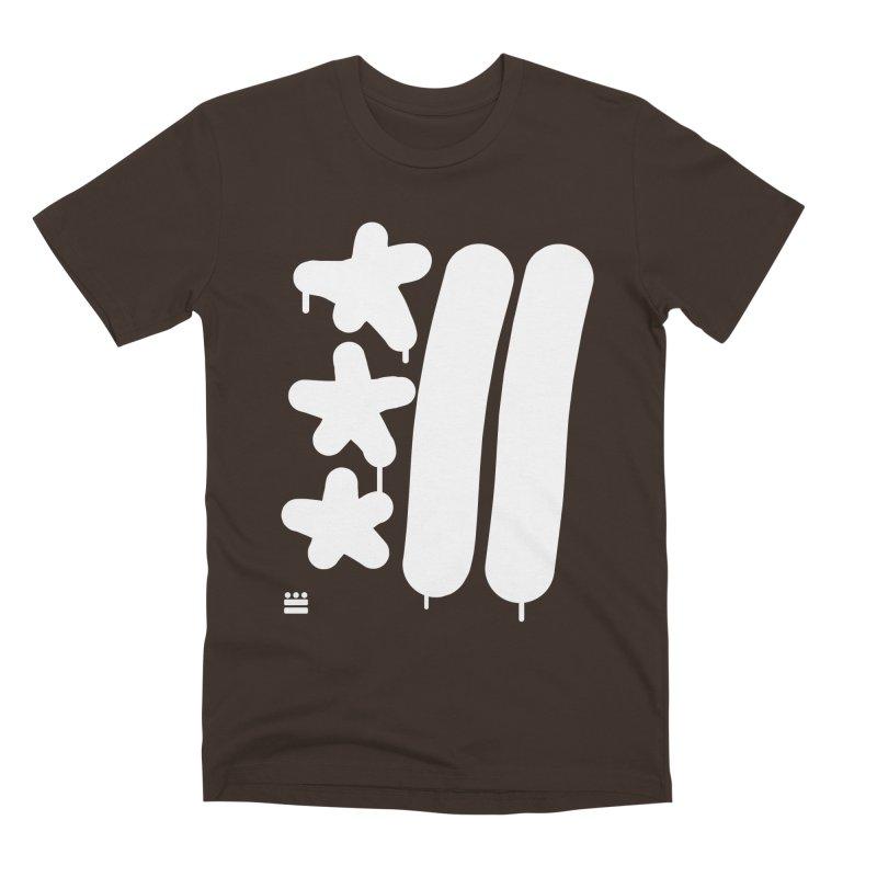 Glyph Drip white on color Men's Premium T-Shirt by Boy Vs Dragon
