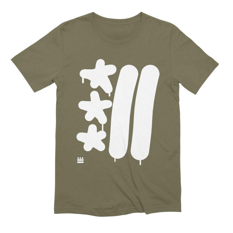 Glyph Drip white on color Men's Extra Soft T-Shirt by Boy Vs Dragon