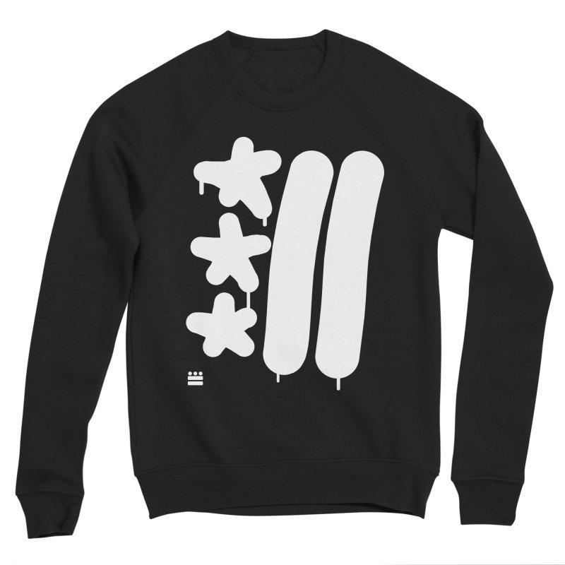 Glyph Drip white on color Women's Sponge Fleece Sweatshirt by Boy Vs Dragon