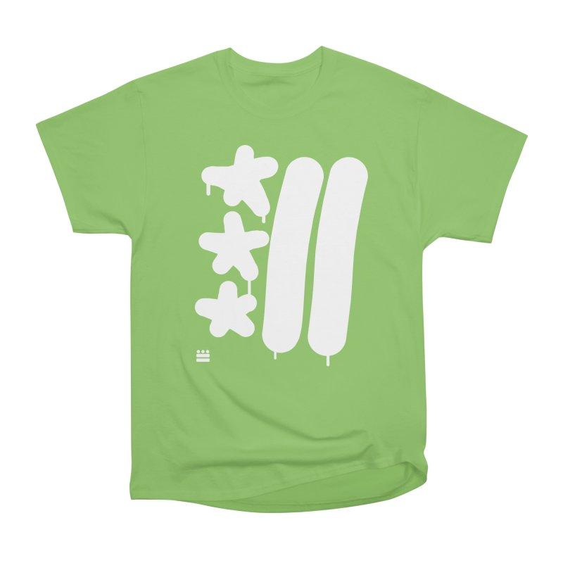 Glyph Drip white on color Women's Heavyweight Unisex T-Shirt by Boy Vs Dragon