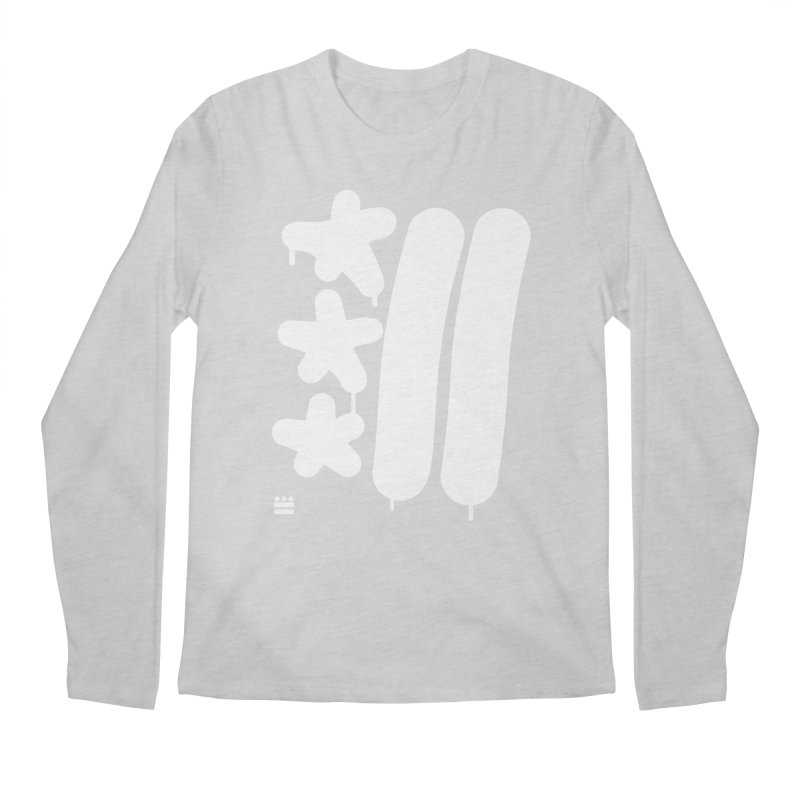 Glyph Drip white on color Men's Regular Longsleeve T-Shirt by Boy Vs Dragon