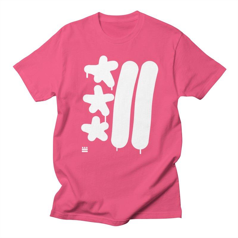 Glyph Drip white on color Women's Regular Unisex T-Shirt by Boy Vs Dragon