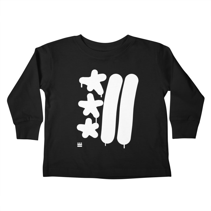 Glyph Drip white on color Kids Toddler Longsleeve T-Shirt by Boy Vs Dragon