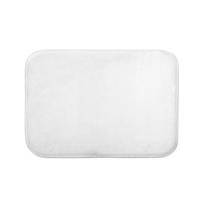 Glyph Drip white on color Home Bath Mat by Boy Vs Dragon