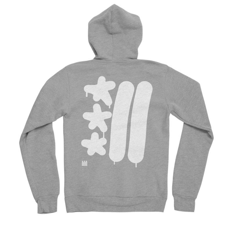 DC White Sweatshirts and Hoodies Women's Sponge Fleece Zip-Up Hoody by Boy Vs Dragon