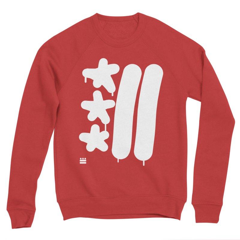 DC White Sweatshirts and Hoodies Women's Sponge Fleece Sweatshirt by Boy Vs Dragon