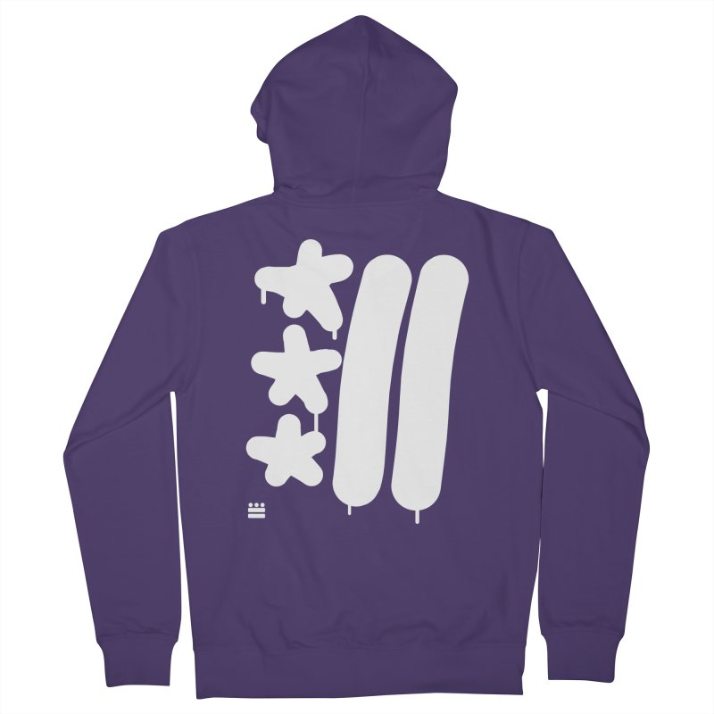 DC White Sweatshirts and Hoodies Women's French Terry Zip-Up Hoody by Boy Vs Dragon