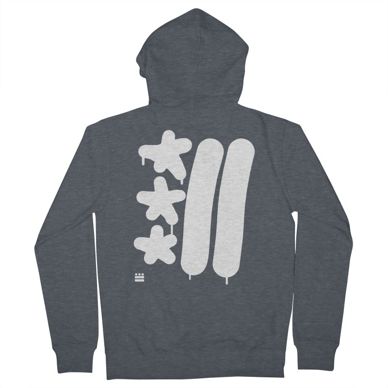 DC White Sweatshirts and Hoodies Men's French Terry Zip-Up Hoody by Boy Vs Dragon