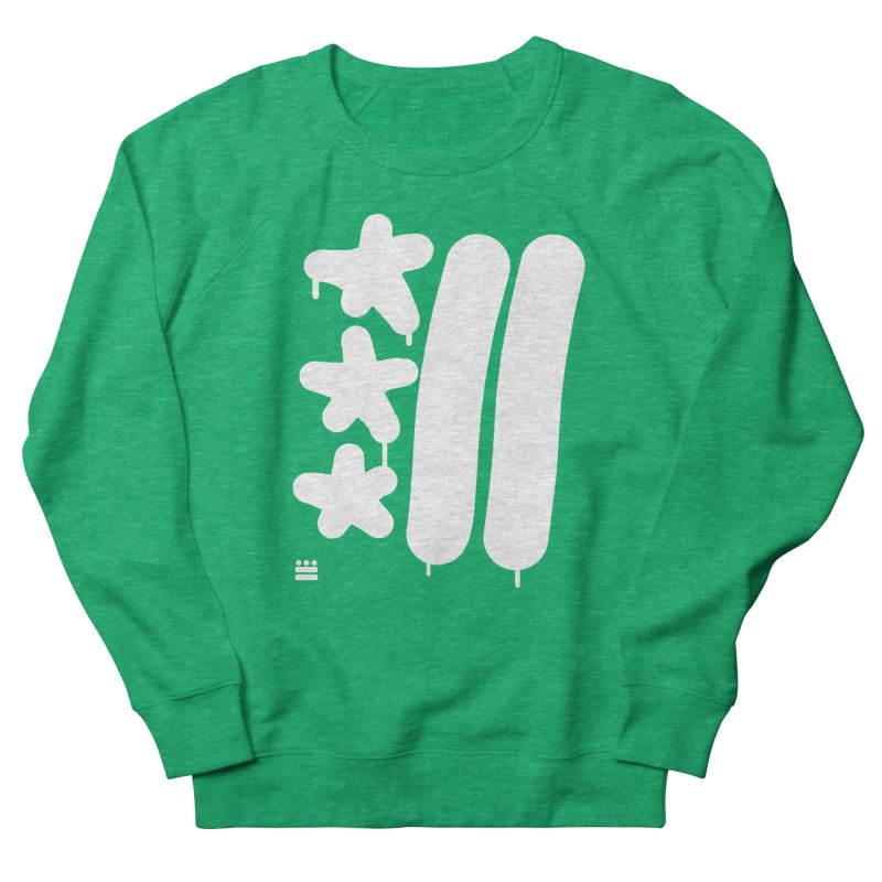 DC White Sweatshirts and Hoodies Women's French Terry Sweatshirt by Boy Vs Dragon
