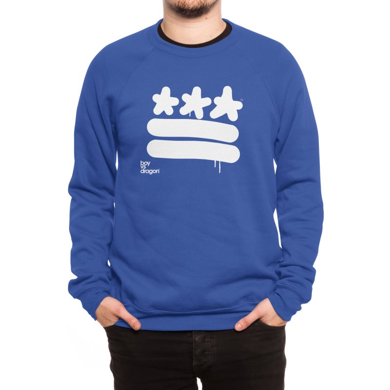 DC Flag Men's Sweatshirt by Boy Vs Dragon