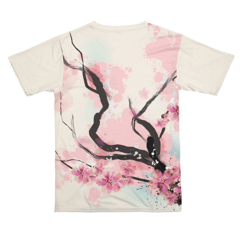 Cherry Blossom Men's Cut & Sew by Boy Vs Dragon