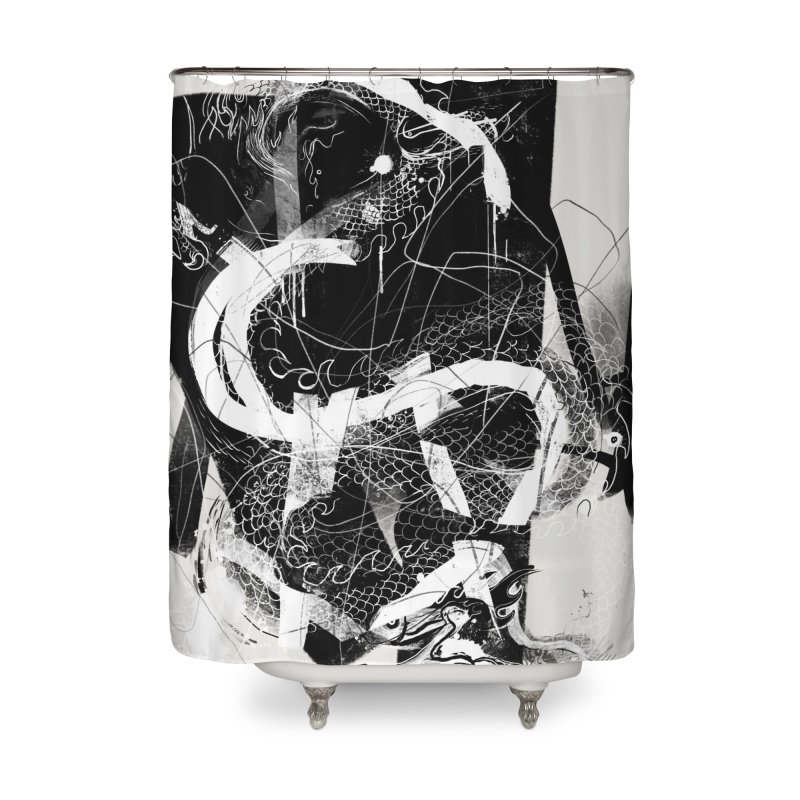 Drgn 001 Home Shower Curtain by Boy Vs Dragon