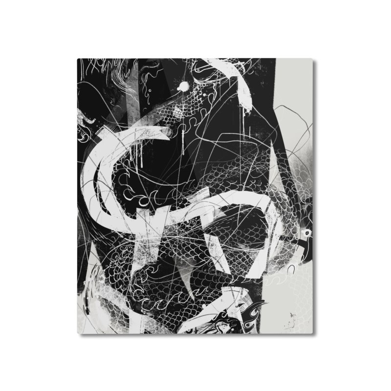Drgn 001 Home Mounted Aluminum Print by Boy Vs Dragon