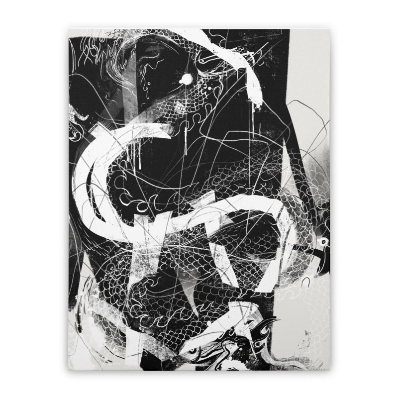 Drgn 001 Home Stretched Canvas by Boy Vs Dragon