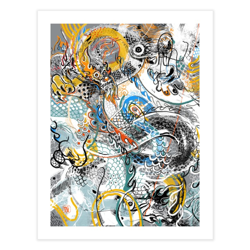 Dragon Block1 Home Fine Art Print by Boy Vs Dragon