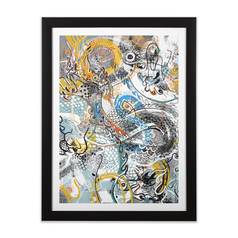 Dragon Block1 Home Framed Fine Art Print by Boy Vs Dragon