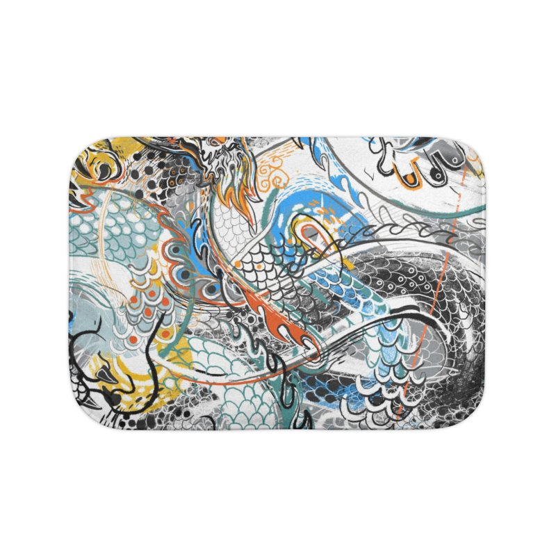 Dragon Block1 Home Bath Mat by Boy Vs Dragon
